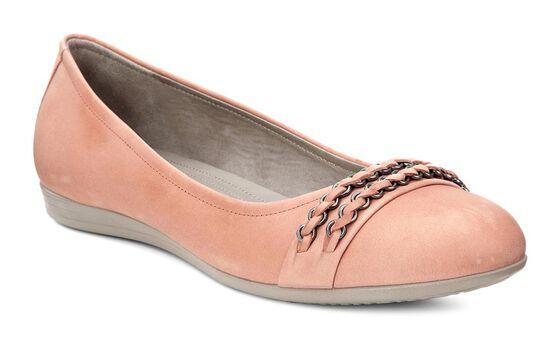 ECCO Touch 15 Ballerina Flats (CORAL)