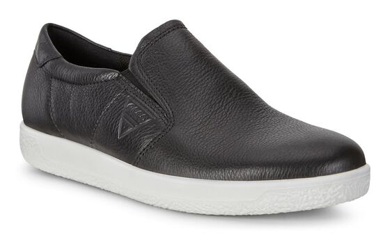 SOFT1 Mens Sneaker Slip On (BLACK)