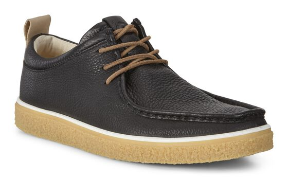 CREPETRAY Mens Moc Tie (BLACK/POWDER)