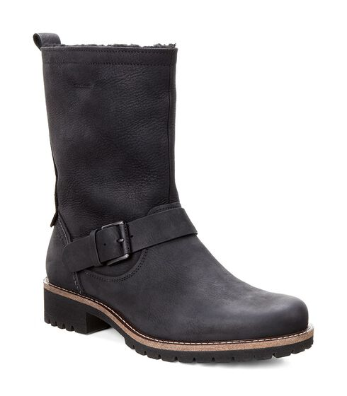 ECCO Elaine Buckle Boot (BLACK)