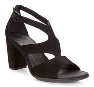 SHAPE BLOCK SANDAL Ankle Strap 65mm (BLACK)
