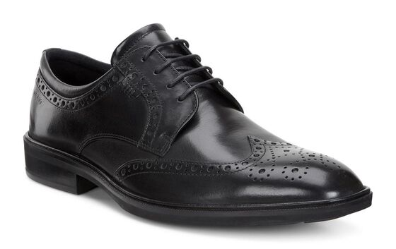 ILLINOIS Wing Tip Tie (BLACK)