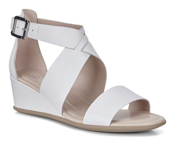 SHAPE WEDGE SANDAL Ankle Strap 35mm (BRIGHT WHITE)