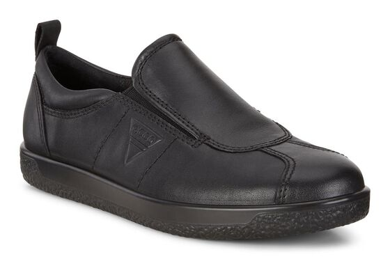 SOFT1 Ladies Sneaker Slip On (BLACK)