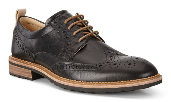 VITRUS I Halo Brogue Tie (BLACK)