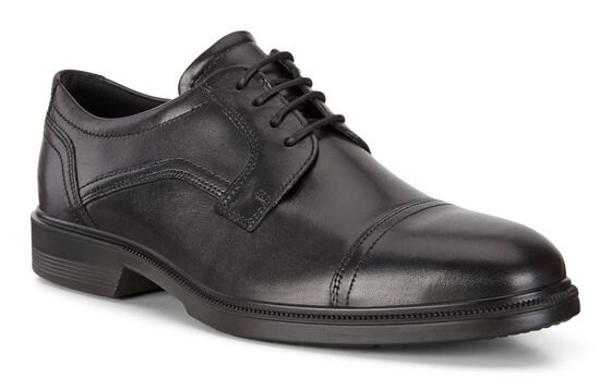 LISBON Cap Toe TieLISBON Cap Toe Tie in BLACK (01001)