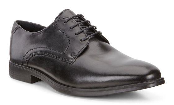 MELBOURNE Plain Toe Tie (BLACK/MAGNET)