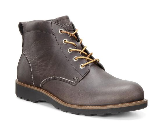 ECCO Holbrok Plain Toe Boot (DARK CLAY)