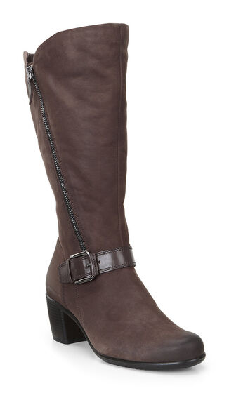 Sculptured Tall Buckle Boot 55mm (COFFEE/COFFEE)