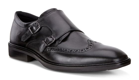 ILLINOIS Double Monk Strap (BLACK)