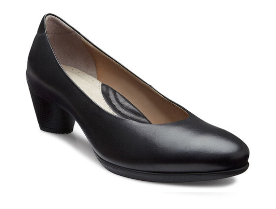 SCULPTURED Plain Pump 45mm (BLACK)