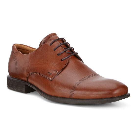 CAIRO Plain Toe Tie (COGNAC)