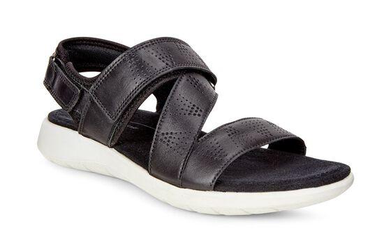 SOFT5 Cross Strap Sandal (BLACK/BLACK)
