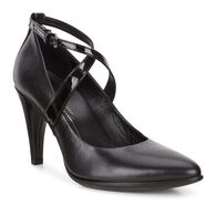 SHAPE POINTY Strap Pump 75mm (BLACK/BLACK)