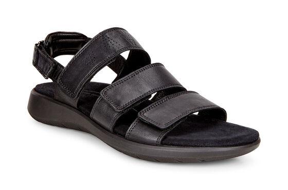 SOFT5 3-Strap Sandal (BLACK)