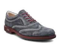 TOUR HYBRID Mens Golf Wingtip (BLACK/PORT)