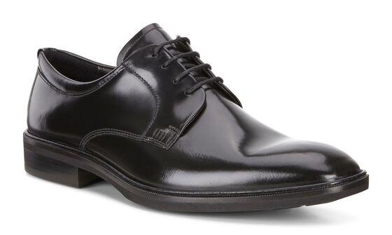 ILLINOIS Plain Toe Tie (BLACK)