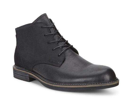 KENTON Plain Toe Boot (BLACK/BLACK)