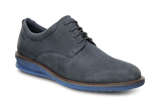 CONTOURED Brogue Tie (NAVY/TRUE NAVY)