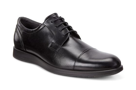 JARED Cap Toe Tie (BLACK)