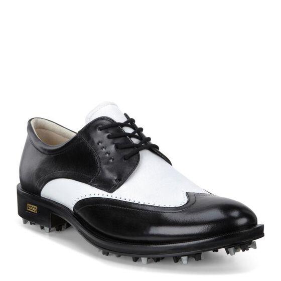 New WORLD CLASS Mens Golf Softspike (BLACK/WHITE)