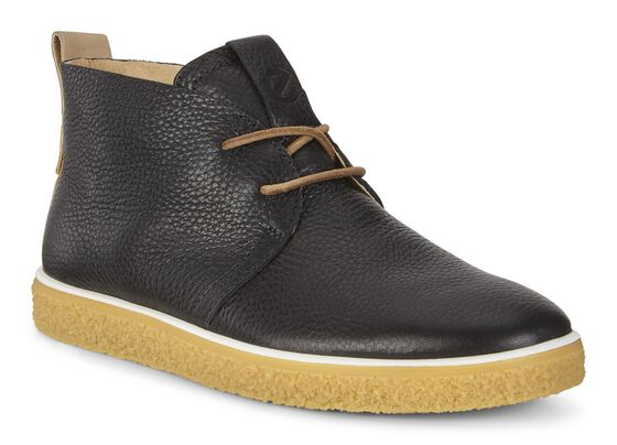 CREPETRAY Womens Desert Boots (BLACK/POWDER)