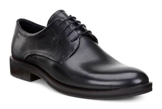 HENLEY Plain Toe Tie (BLACK)