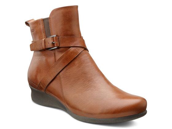 ABELONE Cross Buckle Boot (MAHOGANY)