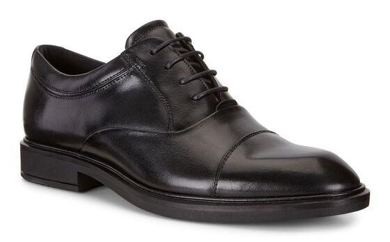 VITRUS II Cap Toe Tie (BLACK)
