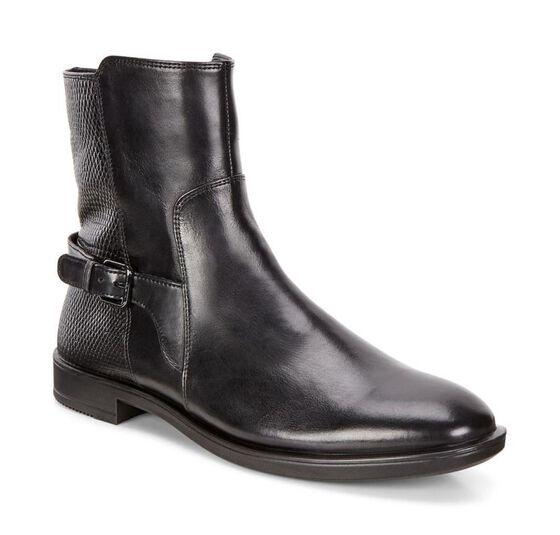 SHAPE M Brushed Ankle Boot 15mm (BLACK/BLACK)