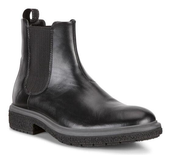 ECCO CREPETRAY HYBRID Mens Mid Boot (BLACK)
