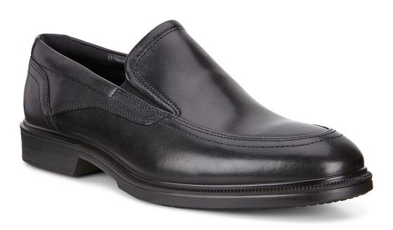 LISBON Apron Toe Slip On (BLACK)