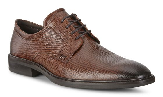 ILLINOIS Plain Toe Tie (COGNAC)