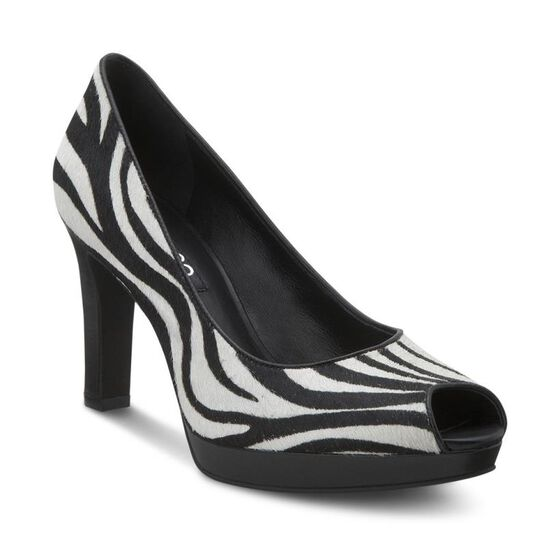 TUNIS Peep Toe Pump 75mm (ZEBRA PRINT)