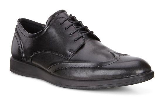JARED Mens Wingtip Tie (BLACK)