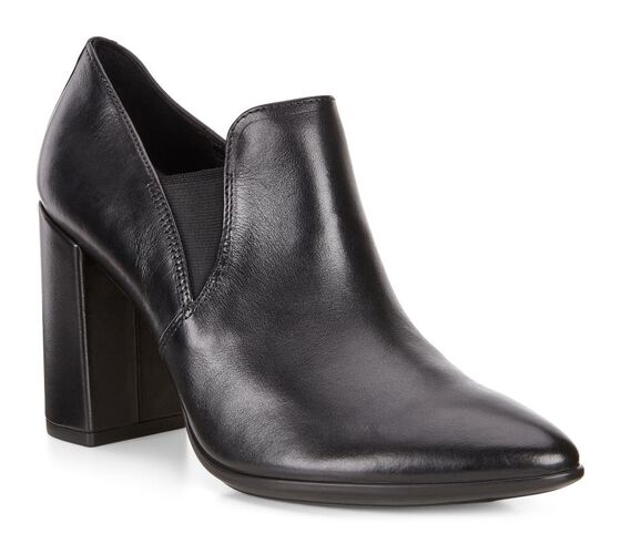 SHAPE POINTY BLOCK Bootie 75mm (BLACK)