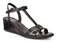 SHAPE WEDGE SANDAL T-Strap 35mm (BLACK/BLACK)