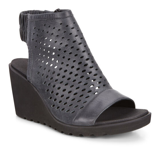 FREJA Wedge Hooded Sandal (BLACK)