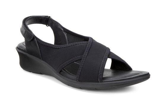 FELICIA X-Strap Sandal (BLACK/BLACK)