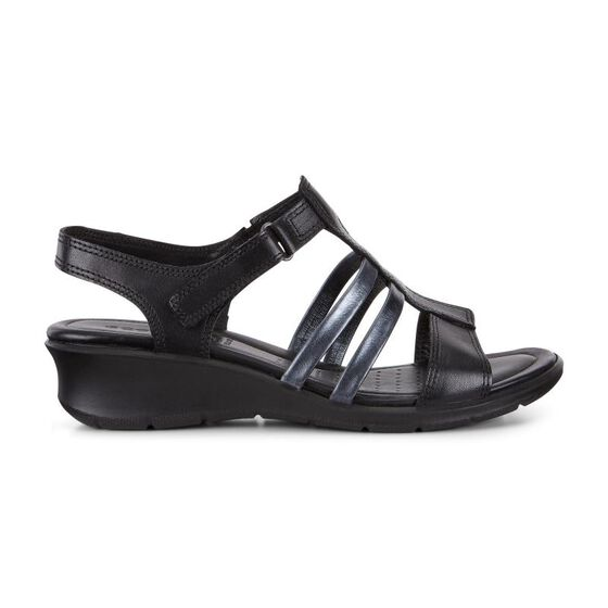 FELICIA Ankle Strap Sandal (BLACK/BLACK)