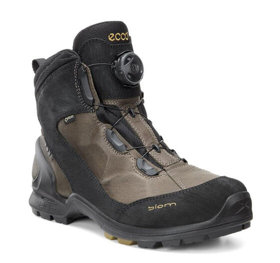 BIOM TERRAIN Mens Midcut GTX (BLACK/WARM GREY/DRIED TOBACCO)