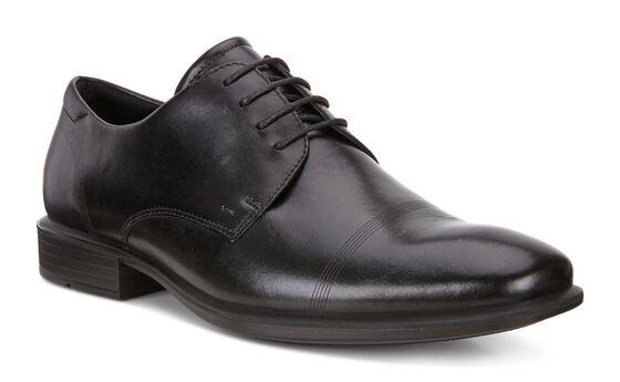 CAIRO Plain Toe Tie (BLACK)