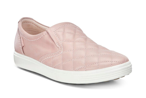 SOFT7 Ladies Quilted Slip On (ROSE DUST/ROSE DUST)