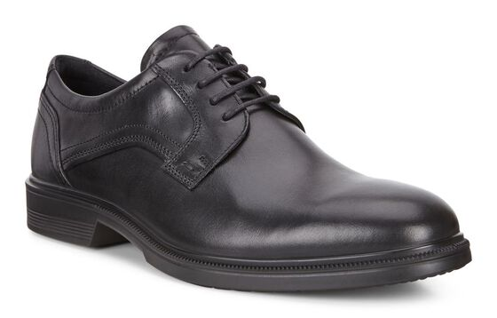 LISBON Plain Toe Tie (BLACK)