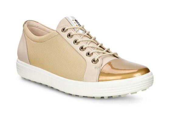 CASUAL HYBRID Golf Ladies Leather LiningCASUAL HYBRID Golf Ladies Leather Lining in OYESTER/GOLD (50416)