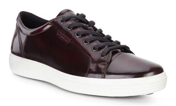 SOFT7 Mens Luxe Tie Sneaker (BORDEAUX)