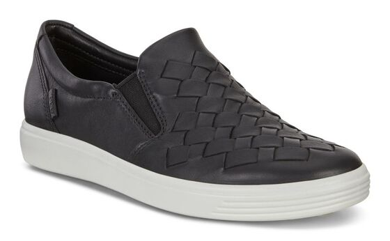 SOFT7 Ladies Woven Slip On (BLACK)