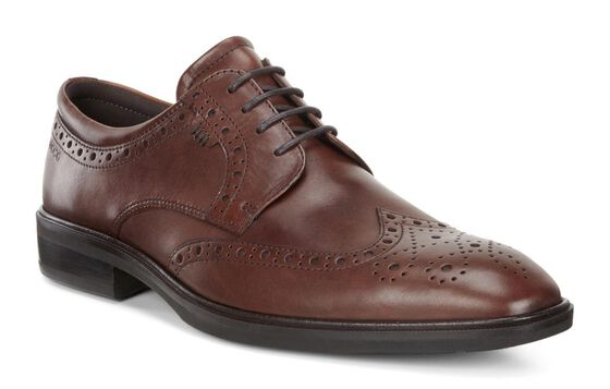 ILLINOIS Wing Tip TieILLINOIS Wing Tip Tie in COGNAC (01053)