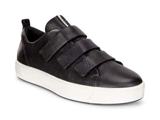 SOFT8 Ladies Strap Sneaker (BLACK)