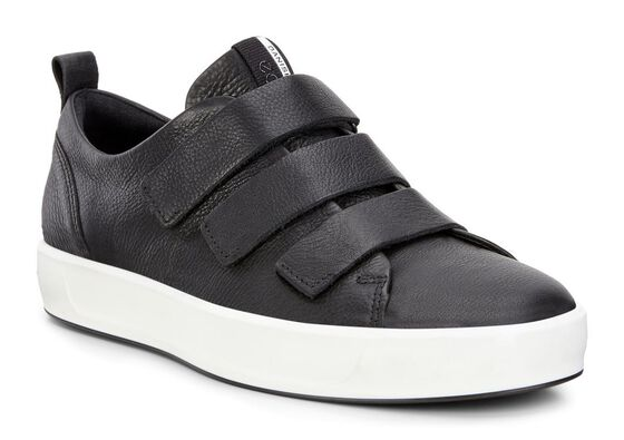 SOFT8 Mens Strap Sneaker (BLACK)